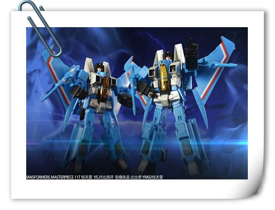 转自AC——Transformers Masterpiece 11T 惊天雷 VS. 型模良品 比比奇 YM02惊天雷 对比辨别