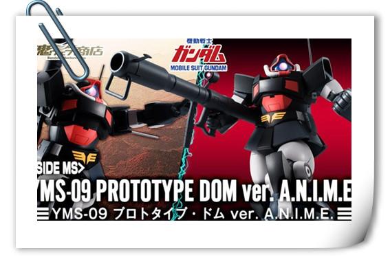 万代 ROBOT魂 〈SIDE MS〉 YMS-09 大魔原型机ver. A.N.I.M.E.