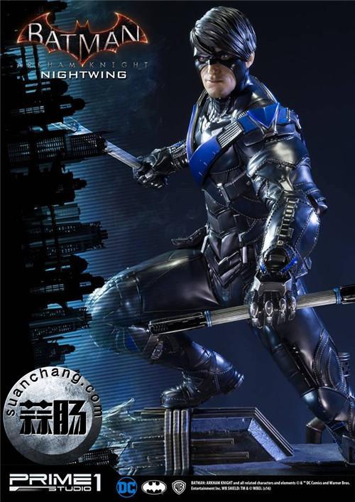 Prime 1 Studio 蝙蝠侠:阿卡姆骑士 夜翼 全身雕像 模玩 第1张