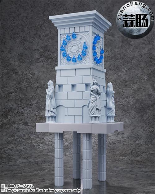 BANDAI D.D.PANORAMATION SERIES 《圣斗士星矢》 黃金12宫扩张套装 圣域之火钟楼 女神雅典娜与士兵 模玩 第4张