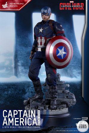Hottoys新品 MMS360《美国队长3》- 美国队长 内战别注版【会场限定】