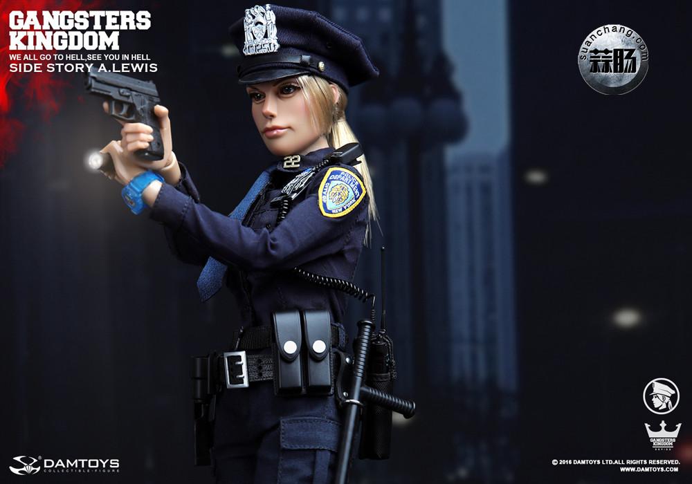 DAMTOYS 1/6黑帮王国系列 番外篇:安妮·刘易斯 警官 模玩 第1张