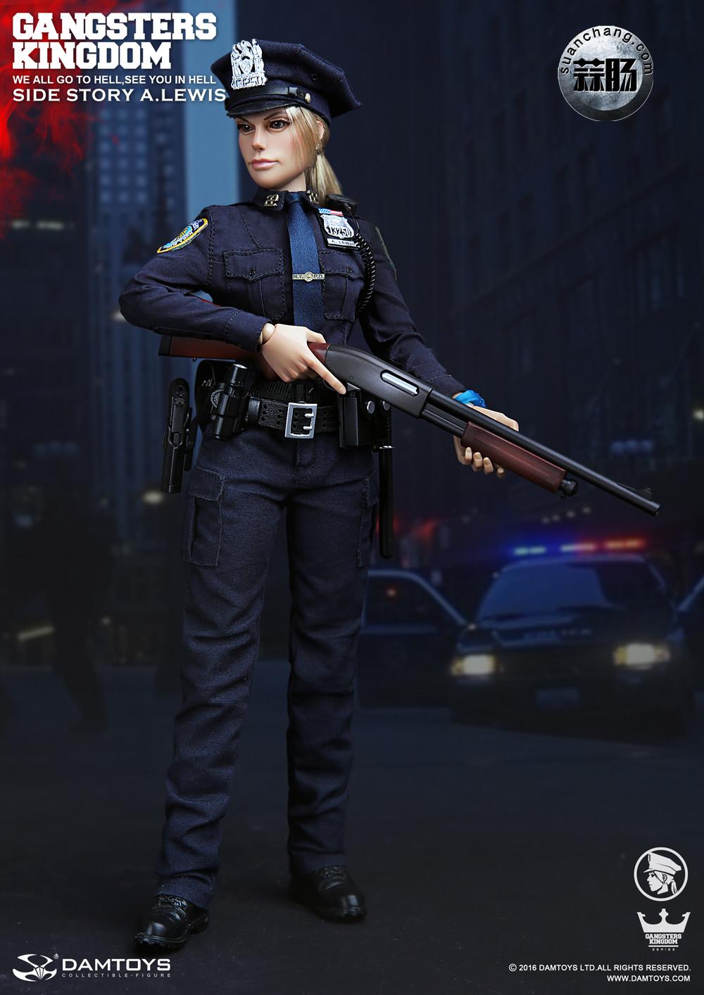 DAMTOYS 1/6黑帮王国系列 番外篇:安妮·刘易斯 警官 模玩 第3张