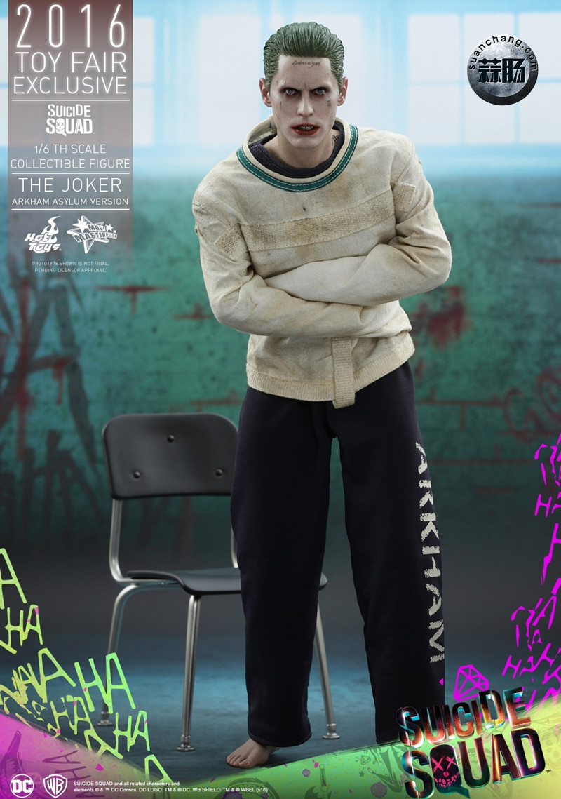 Hottoys 新品:《自杀小队》 小丑JOKER- 阿甘疯人院版【会场限定】 模玩 第1张