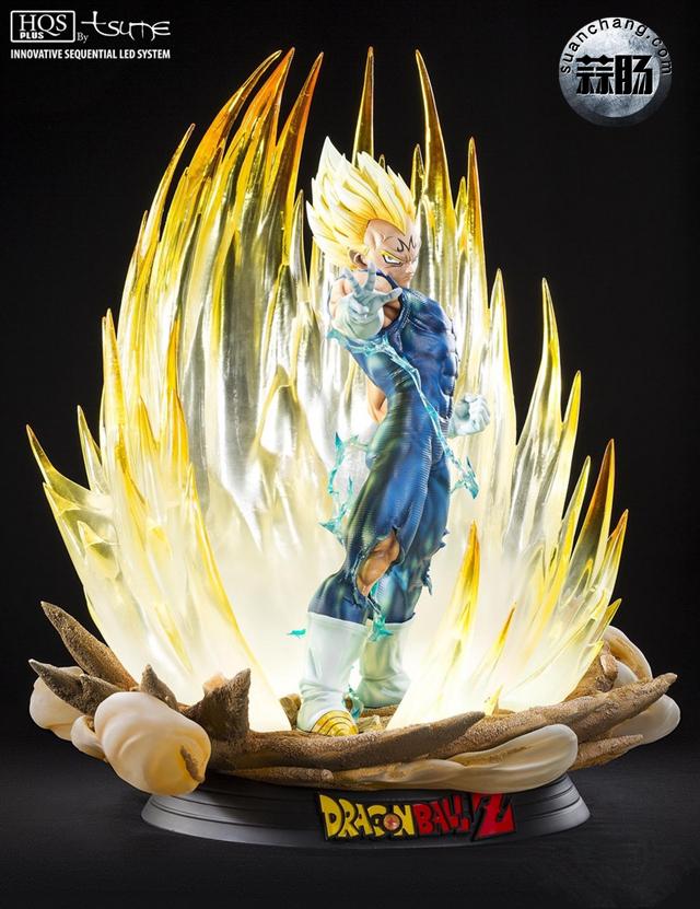 """七龙珠系列 魔人贝吉塔全身雕像 """"金贵来袭"""" 动态 第2张"""