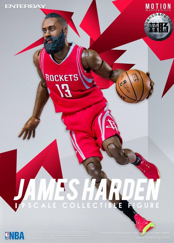 Enterbay 新品NBA球星系列- James Harden詹姆斯·哈登 模玩 第3张