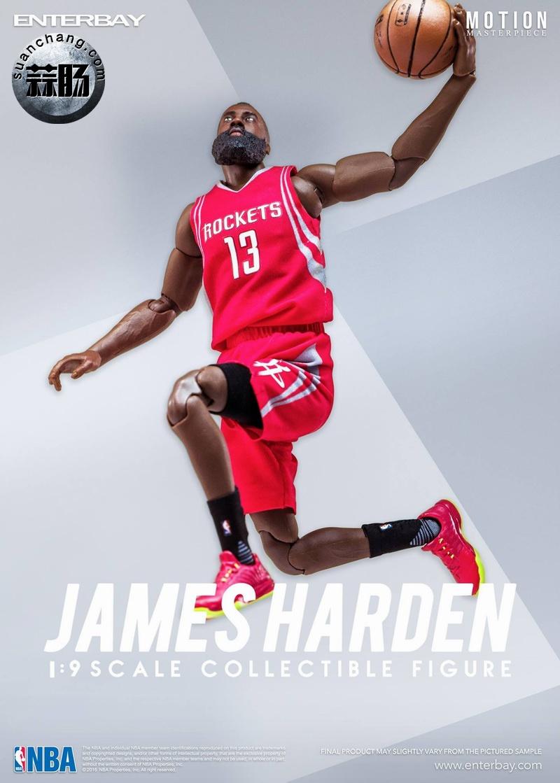 Enterbay 新品NBA球星系列- James Harden詹姆斯·哈登 模玩 第4张