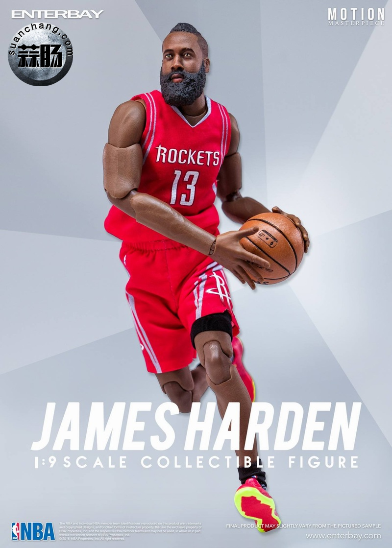 Enterbay 新品NBA球星系列- James Harden詹姆斯·哈登 模玩 第5张