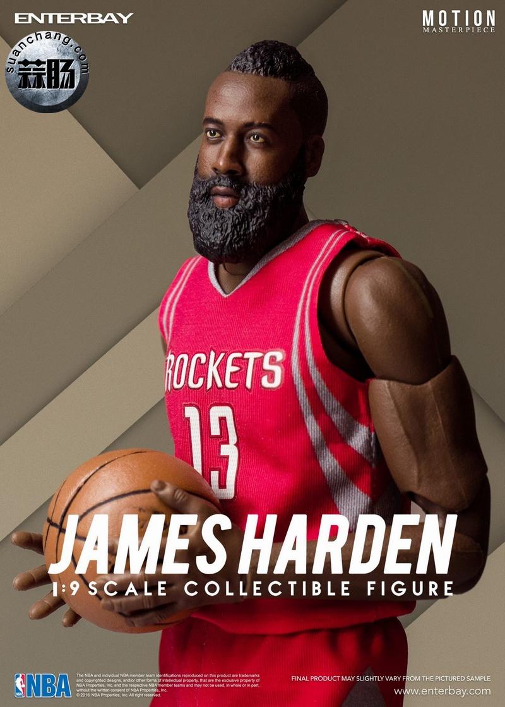 Enterbay 新品NBA球星系列- James Harden詹姆斯·哈登 模玩 第8张