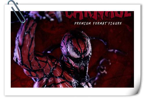 哇哦!Sideshow 新品:22寸 蜘蛛侠反派 - Carnage/屠杀 雕像