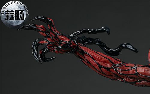 哇哦!Sideshow 新品:22寸 蜘蛛侠反派 - Carnage/屠杀 雕像 模玩 第6张