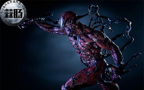 哇哦!Sideshow 新品:22寸 蜘蛛侠反派 - Carnage/屠杀 雕像 模玩 第8张