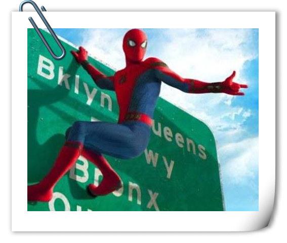 下一步要上天?《蜘蛛侠:英雄归来》新海报 小蜘蛛爬上公路牌