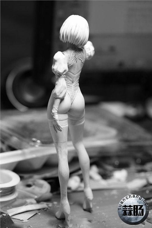 《尼尔:机械纪元》2B小姐姐 1/7手办灰模 造型简直完美!  模玩 第2张