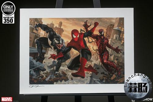 SIDESHOW限量版20寸蜘蛛侠vs毒液 & 屠杀签名画公开! 动漫 第2张