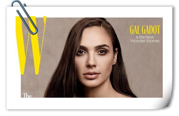 神奇女侠盖尔·加朵登《W》杂志封面,优雅性感不可方物