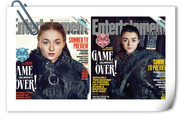 搞事情!狼家四兄妹团聚《权力的游戏》登《娱乐周刊》封面