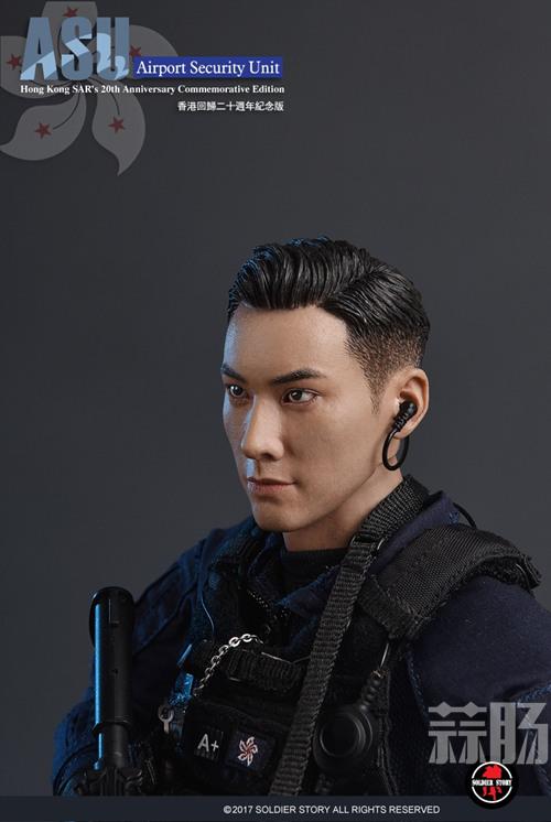 香港回归20周年 SoldierStory公布香港机场特警队ASU纪念版 模玩 第7张