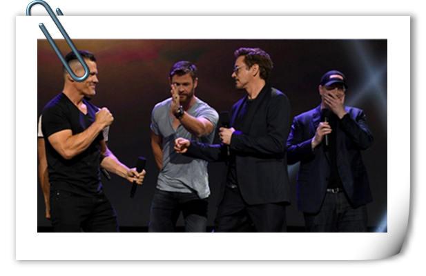 《复仇者联盟3》成员集体亮相迪士尼D23Expo 小唐尼压轴!