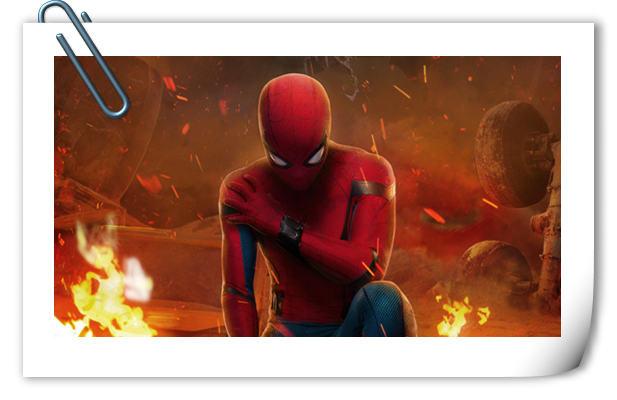 小蜘蛛火中扮酷 《蜘蛛侠:英雄归来》公开IMAX特别版海报!