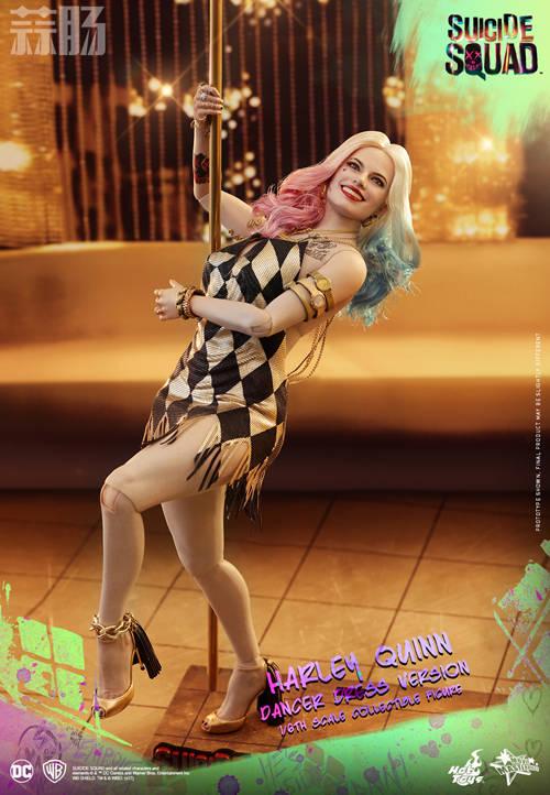 Hot Toys 《自杀特攻:超能暴队》小丑女 (金色舞衣版) 1:6比例珍藏人偶 模玩 第3张