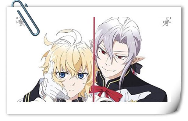 满满的cp感 《终结的炽天使》第二季光碟全新套装封面图公开!