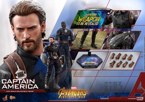Hot Toys抢先电影《复仇者联盟3》上映前公布 美国队长1:6比例珍藏人偶 模玩 第5张