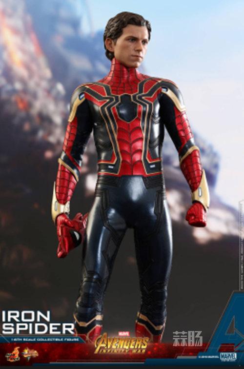 Hot Toys《复仇者联盟3: 无限战争》钢铁蜘蛛1:6比例珍藏人偶 模玩 第7张