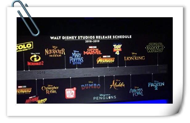 幸福!2018-2019迪士尼共有18部电影上映!