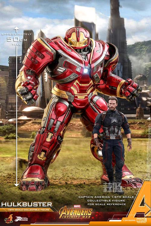 Hot Toys《复仇者联盟3: 无限战争》反浩克装甲1:6比例半可动珍藏人偶 模玩 第4张