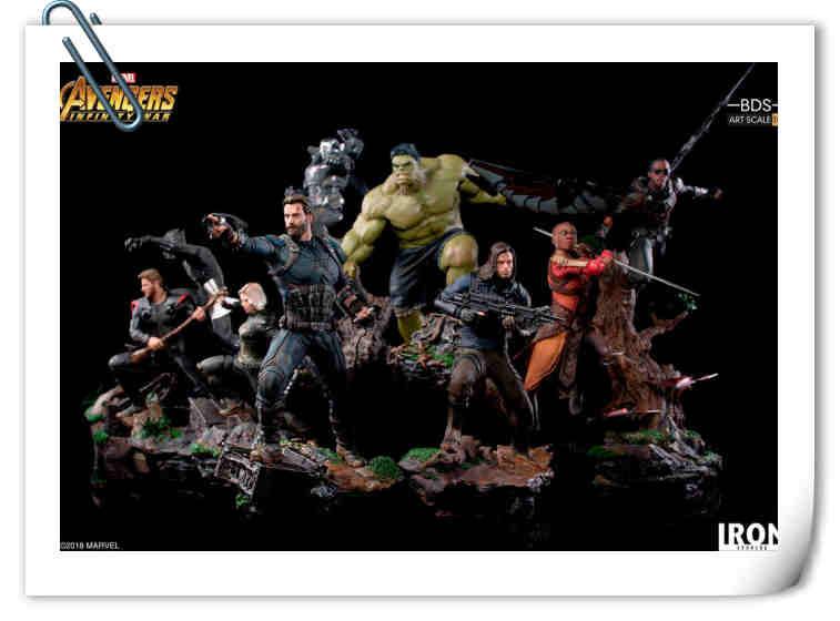 Iron Studios 发布《复仇者联盟3:无限战争》立体雕塑全新官图