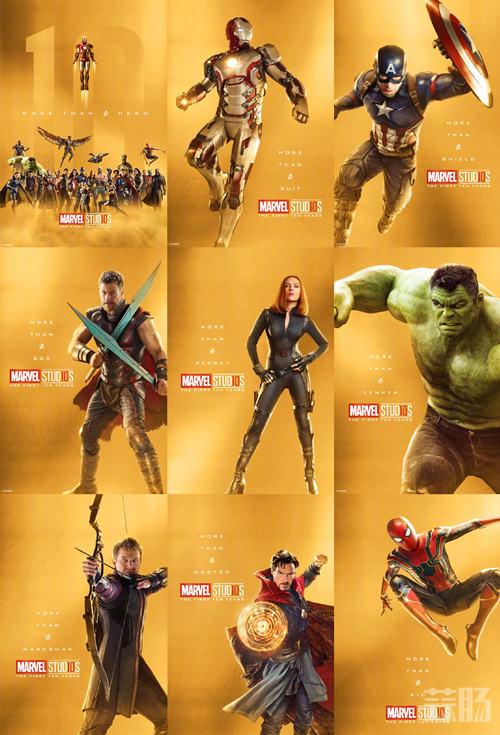 庆祝漫威电影宇宙诞生10周年!32张全角色海报公开! 动漫 第1张