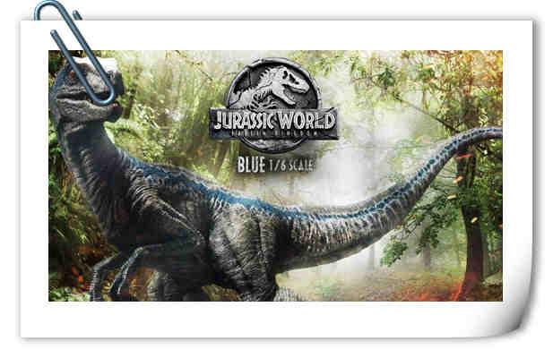 Prime 1 Studio 新品:1/6 《侏罗纪世界2》Blue布鲁来袭!