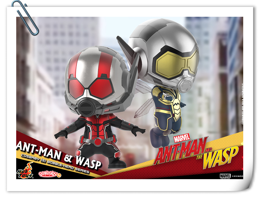Hot Toys推出《蚁人2:黄蜂女现身》COSBABY套装