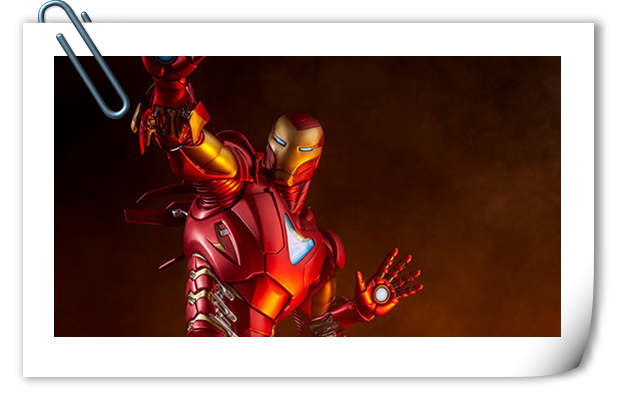 Sideshow 发布 1/5 漫威漫画版 钢铁侠MarkII 雕像官图!