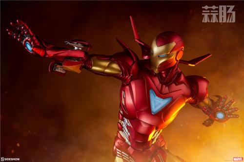 Sideshow 发布 1/5 漫威漫画版 钢铁侠MarkII 雕像官图! 模玩 第1张