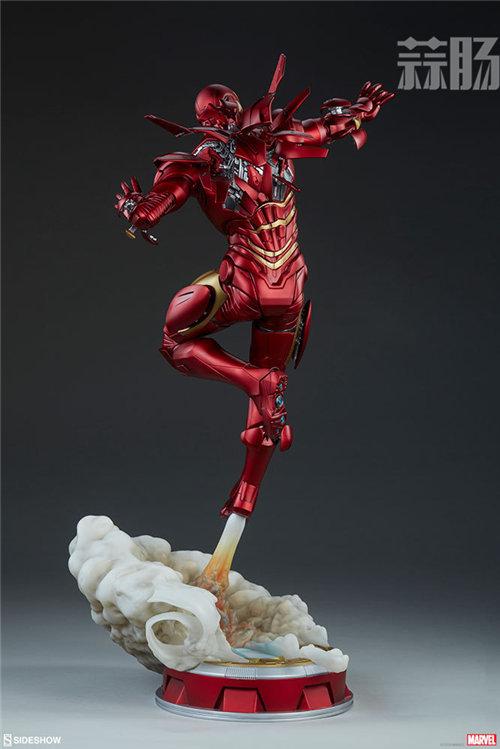 Sideshow 发布 1/5 漫威漫画版 钢铁侠MarkII 雕像官图! 模玩 第7张
