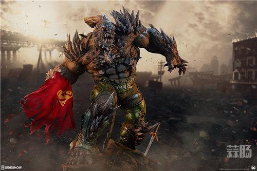 Sideshow新品26.5寸DC超级大反派-毁灭日雕像来袭! 模玩 第1张