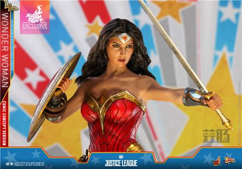 Hot Toys推出《正义联盟》神奇女侠(漫画概念版) 1:6比例珍藏人偶 模玩 第10张