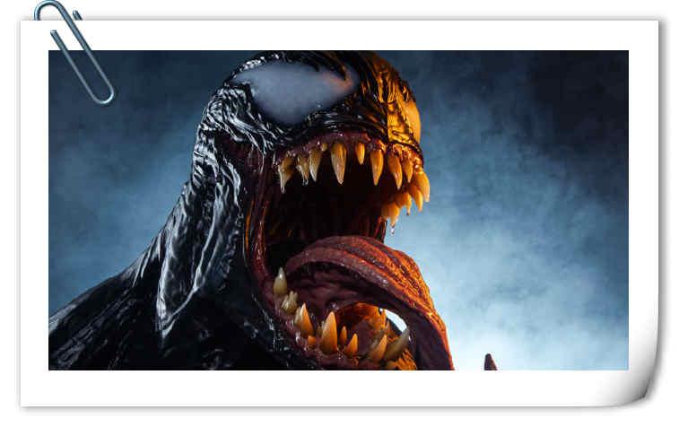 真实!Sideshow发布漫威Life Size Venom Bust 毒液胸像 !