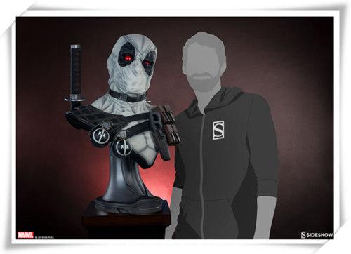 Sideshow 公布 1:1漫画版X特工队白色死侍胸像