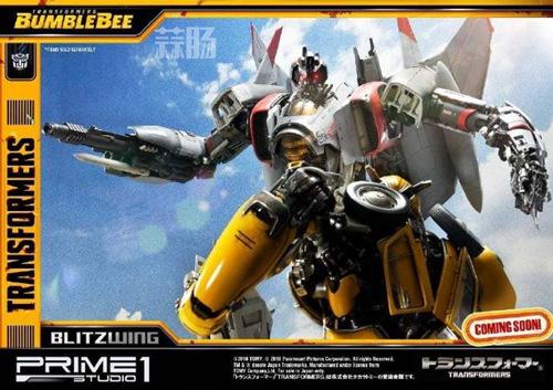 Prime 1 Studio 公布电影《大黄蜂》闪电雕像官图 变形金刚 第6张