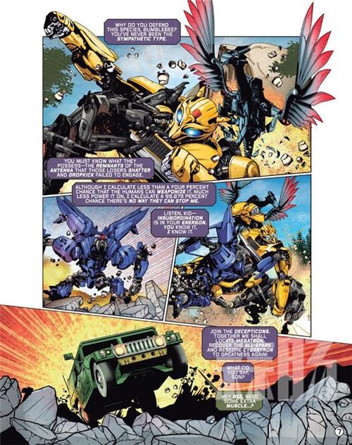 蓝光版《变形金刚:大黄蜂》将加入《大黄蜂》主题漫画 变形金刚 第3张