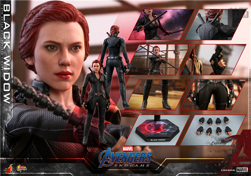 Hot Toys《复仇者联盟4》美国队长及黑寡妇1:6比例珍藏人偶 模玩 第10张