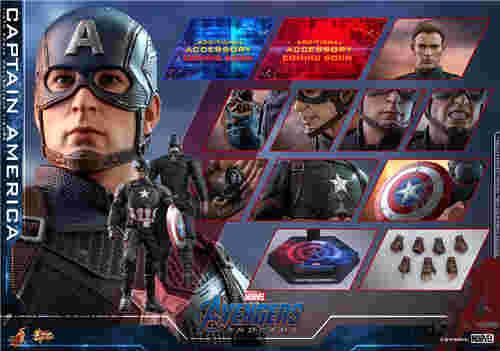 Hot Toys《复仇者联盟4》美国队长及黑寡妇1:6比例珍藏人偶