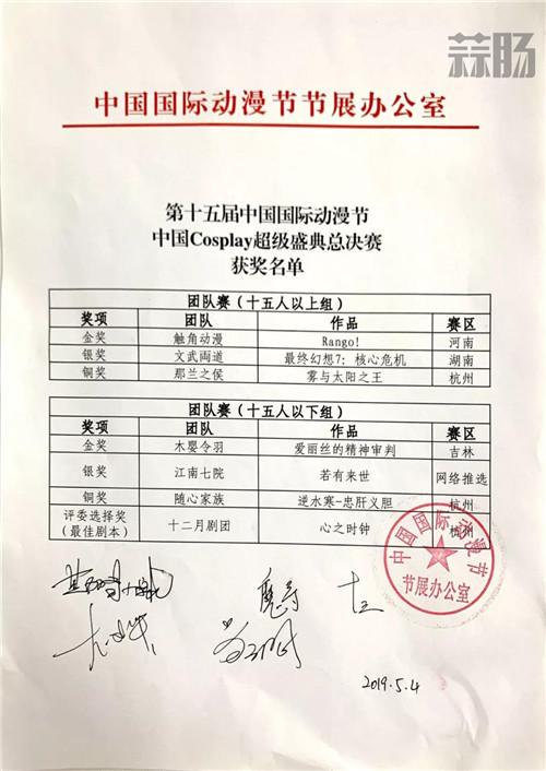 第十五届中国COSPLAY超级盛典总决赛获奖名单出炉 漫展 第33张