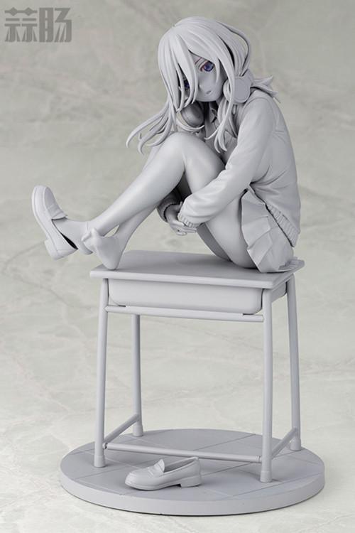 寿屋《五等分的花嫁》中野三玖手办的未上色原型公开 模玩 第1张