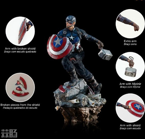 Iron Studios《复仇者联盟4:终局之战》美国队长1/10雕像 模玩 第4张