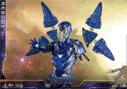 Hot Toys《复仇者联盟4: 终局之战》小辣椒救援装甲同场加映纳米手套
