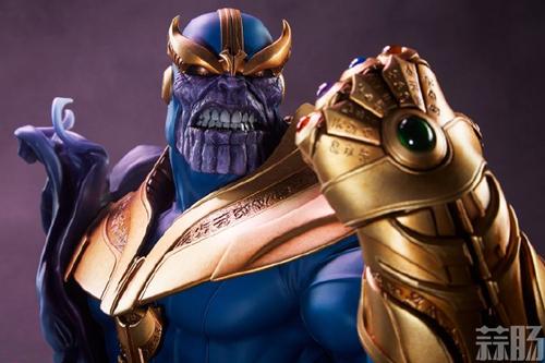Sideshow新品:10.5寸漫威系列- Thanos/灭霸 半身胸像 模玩 第1张